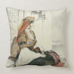 A Jewish Woman of Gibraltar, from 'Sketches of Spa Cushion