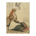 A Jewish Woman of Gibraltar, from 'Sketches of Spa Wood Print