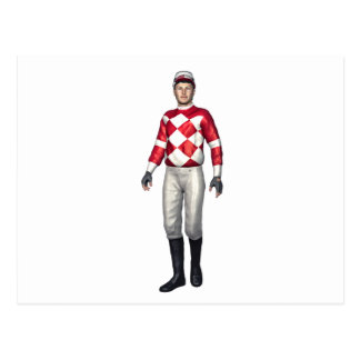A Jockey in Red and White Postcard