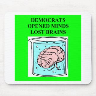 a joke about democrats mouse pad