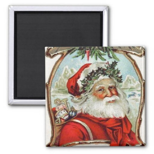 A Jolly Christmas Vintage Magnet