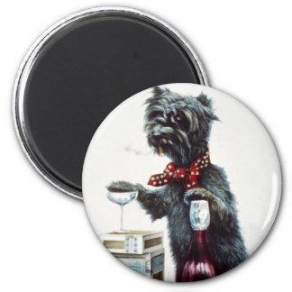 A jolly dog magnet