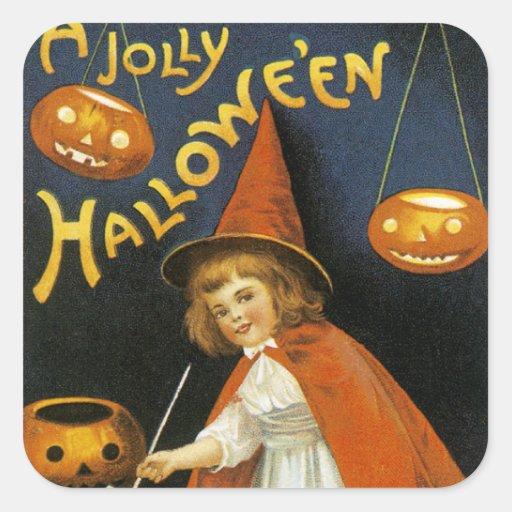 A Jolly Halloween Square Sticker