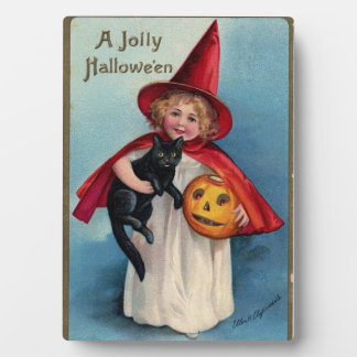 A Jolly Halloween Tabletop Plaque
