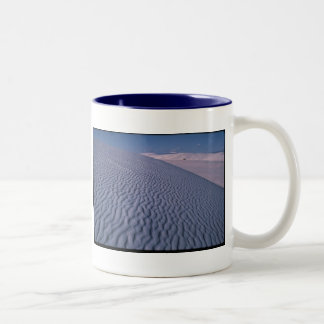 A journey of a thousand miles begins ... Two-Tone mug