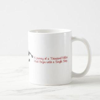 A journey of a thousand miles... coffee mug