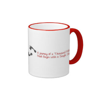 A journey of a thousand miles... ringer mug