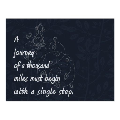 """""""A Journey..."""" Zen Proverb. Postcards"""
