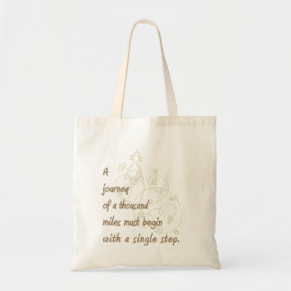 """A Journey..."" Zen Proverb. Tote Bag"