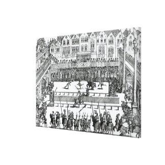 A Jousting Scene Canvas Prints