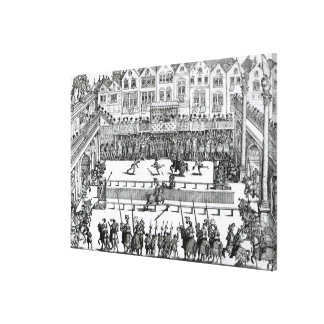 A Jousting Scene Canvas Print