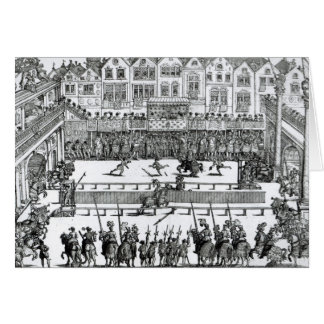 A Jousting Scene Greeting Card