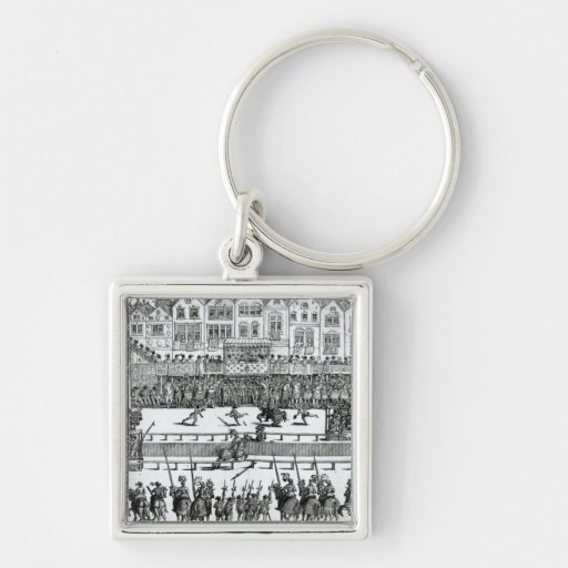 A Jousting Scene Keychains