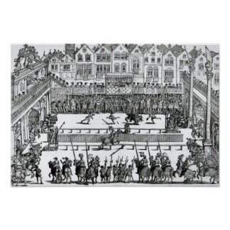 A Jousting Scene Poster