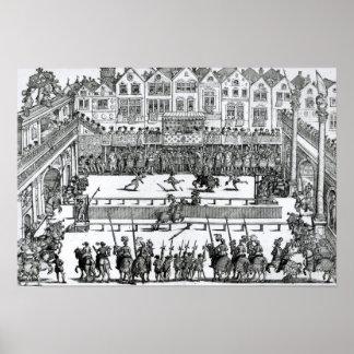 A Jousting Scene Print