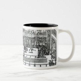 A Jousting Scene Two-Tone Coffee Mug