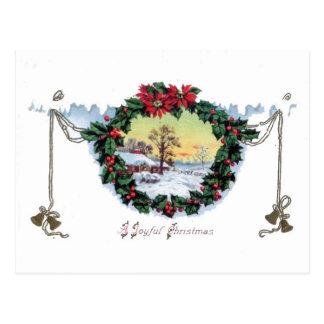 A Joyful Christmas Old-Fashioned Christmas Card Postcard