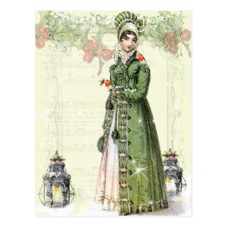 A Joyous Noel - Jane Austen Inspired Postcard