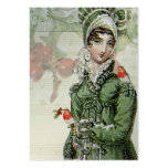 A Joyous Noel Jane Austen INspired Silver Gift tag Pack Of Chubby Business Cards