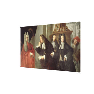 A Judge and Three Advocates, Venetian School (oil Canvas Print
