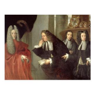 A Judge and Three Advocates, Venetian School (oil Postcard