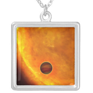 A Jupiter-sized planet Silver Plated Necklace