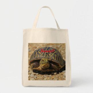 A Kansas Box Shell Turtle Grocery Tote Bag