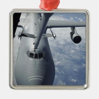 A KC-10 Extender prepares to refuel a C-5 Galax Christmas Ornament