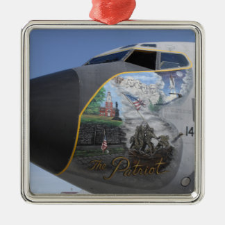 A KC-135 Stratotankerdisplaying patriotic nose Christmas Ornament