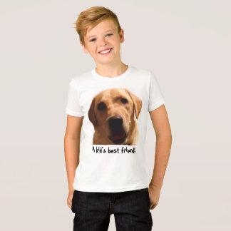 A Kid's Best Friend! | Yellow Lab T-Shirt