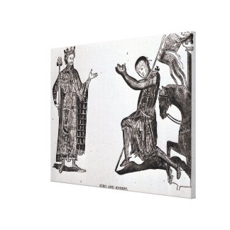 A King and a Knight Canvas Print