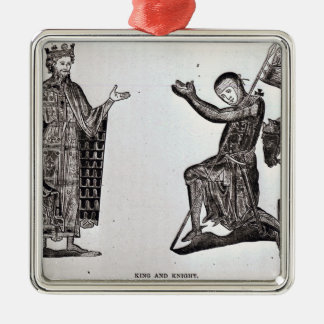 A King and a Knight Christmas Ornament