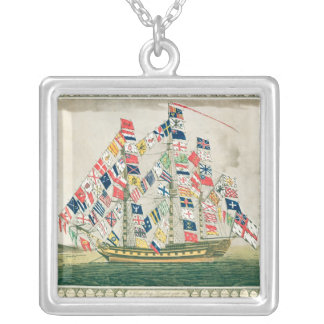 A King's Ship Silver Plated Necklace