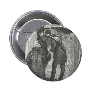 A Kiss Victorian/Gothic Winged Vampire 6 Cm Round Badge