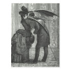 A Kiss Victorian/Gothic Winged Vampire Postcard