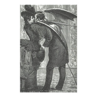 A Kiss Victorian/Gothic Winged Vampire Stationery