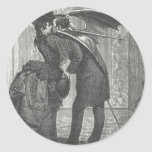 A Kiss Victorian/Gothic Winged Vampire Round Sticker