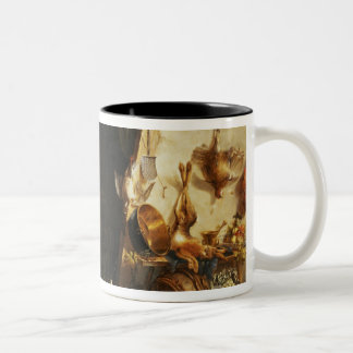 A Kitchen Interior with a Servant Girl Two-Tone Coffee Mug