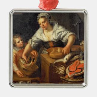 A Kitchen Scene Christmas Ornament