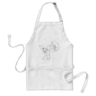 A kitty aprons