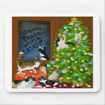 A Kitty Cat Christmas Mousepad
