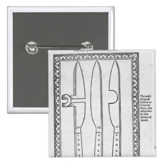 A Knife Trick 15 Cm Square Badge