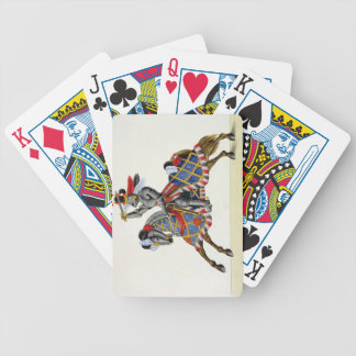 A knight at a tournament, plate from 'A History of Bicycle Playing Cards