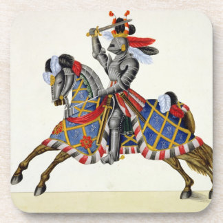 A knight at a tournament plate from A History of Coaster