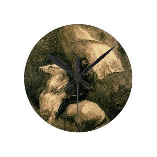 A Knight, c.1885 Round Clock