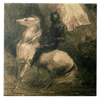 A Knight, c.1885 Tile