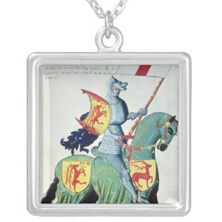 A Knight Carrying the Arms of Verona Silver Plated Necklace