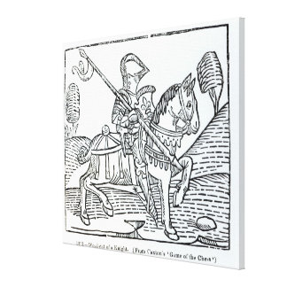 A Knight, from Caxton's 'Game of the Chess' Canvas Print