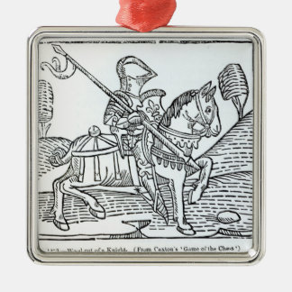 A Knight, from Caxton's 'Game of the Chess' Christmas Ornament