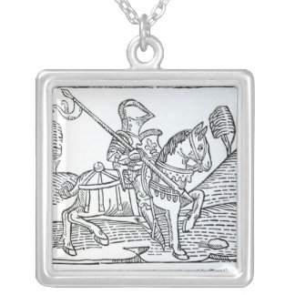 A Knight, from Caxton's 'Game of the Chess' Silver Plated Necklace